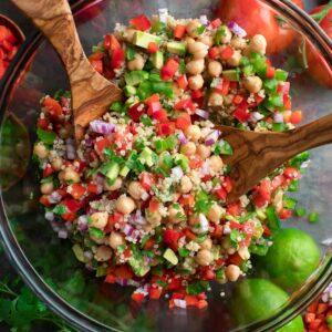 Vegetarian Quinoa Chickpea Salad