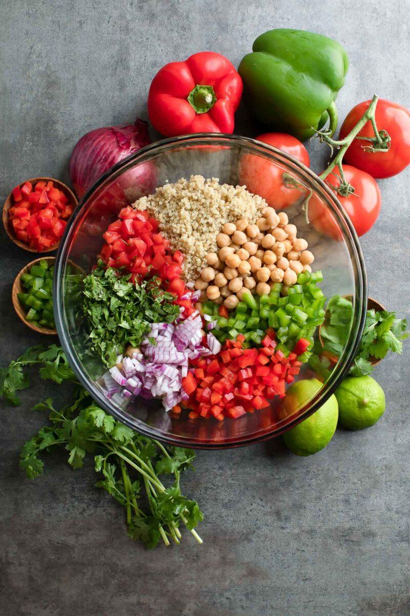 Quinoa Chickpea Salad Bowl Ingredients