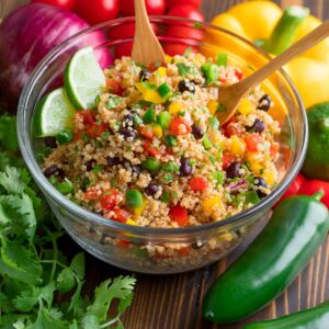 Southwest Quinoa Salad with Chili Lime Dressing
