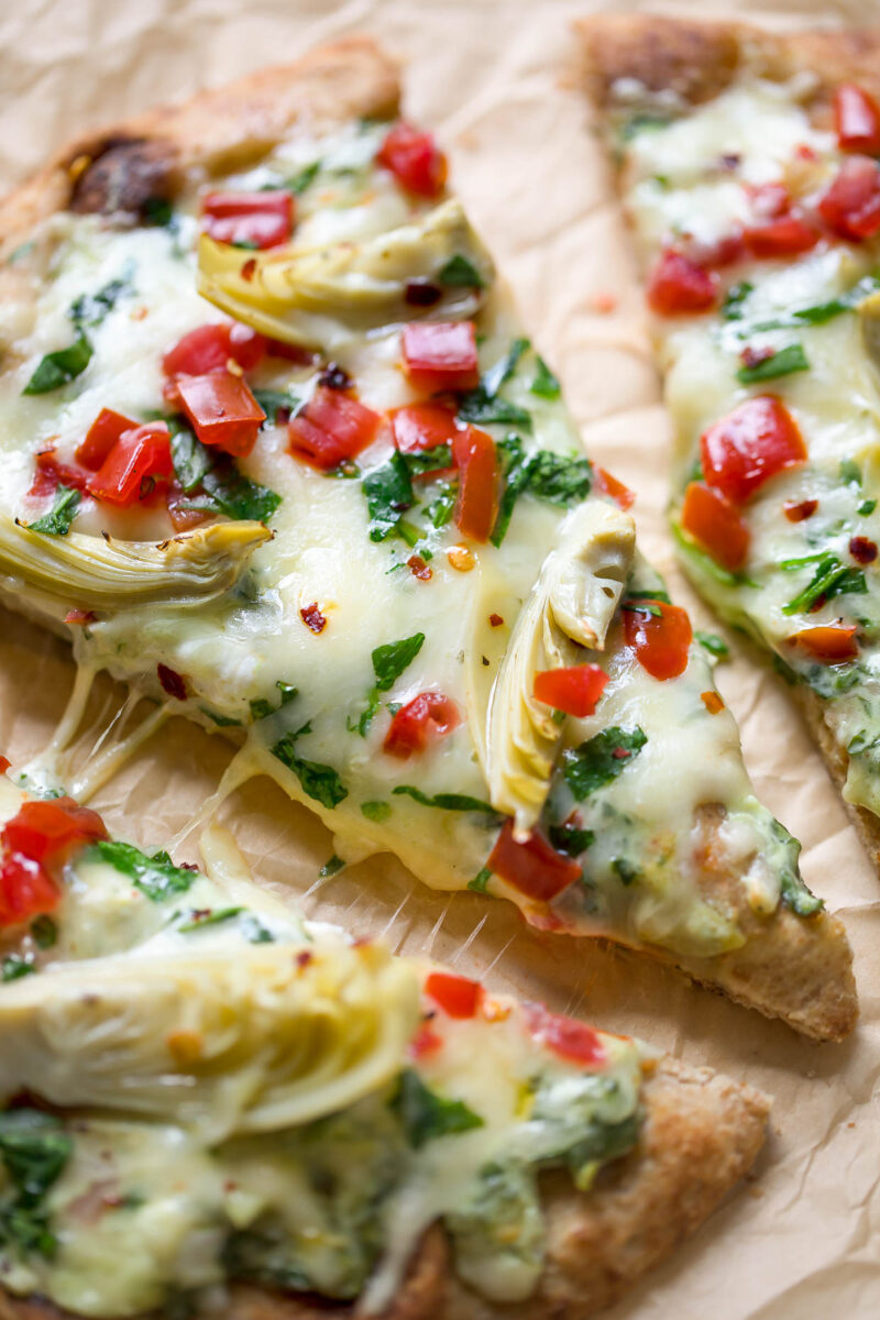 Spinach Dip Pizza