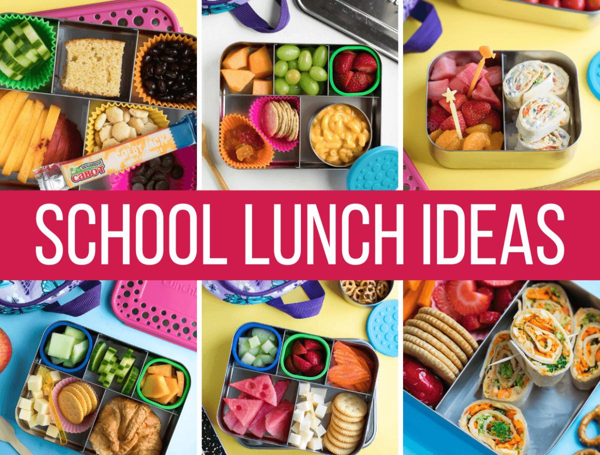 School Lunch Ideas Photo Collage