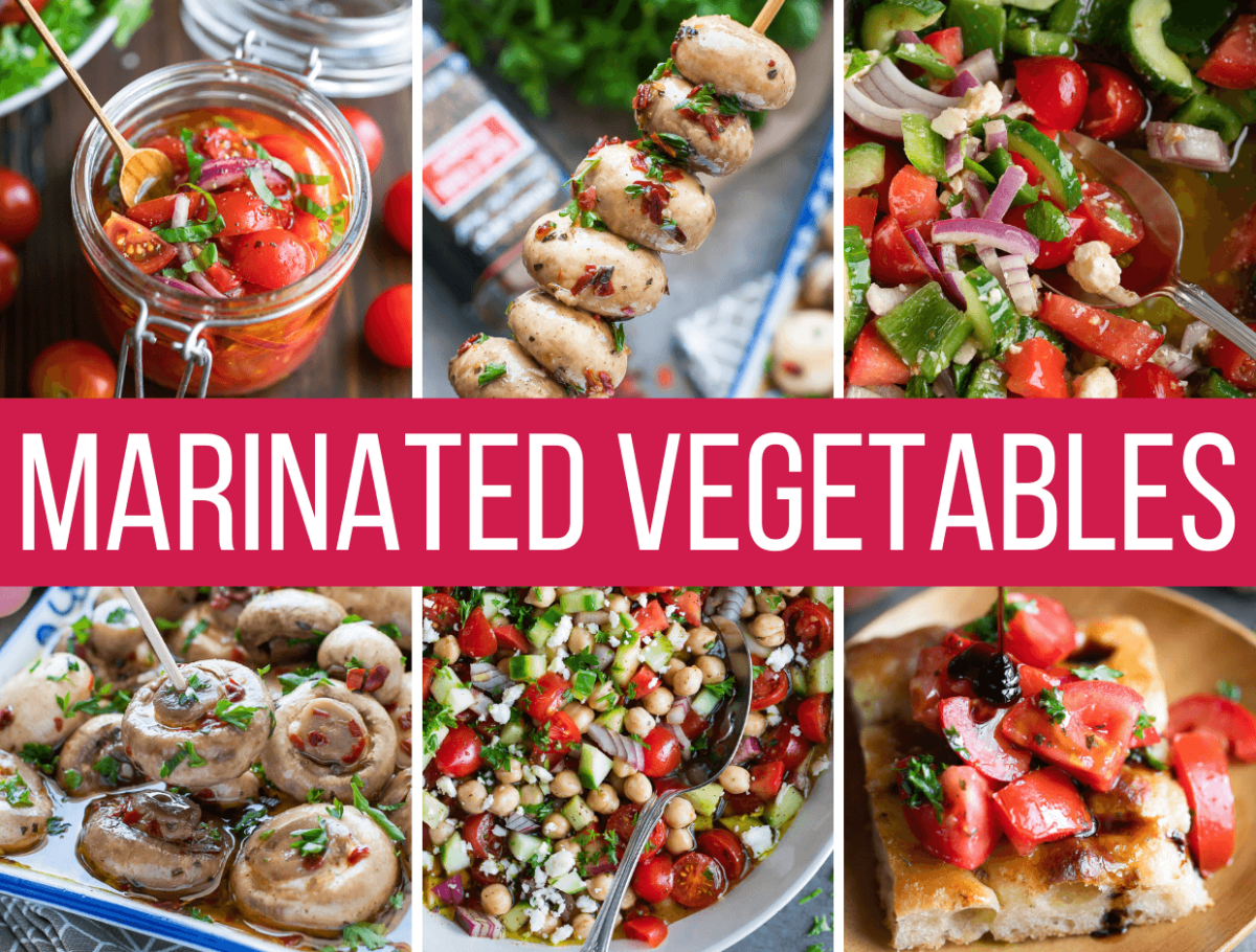 Marinated Vegetables Photo Collage